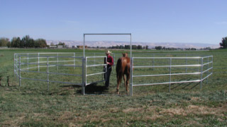 40' - 5' High, 4 Rail Round Pen