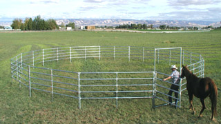 50' - 5' High, 5 Rail Round Pen