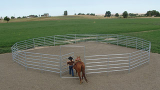 60' - 5 1/2' High, 6 Rail Round Pen