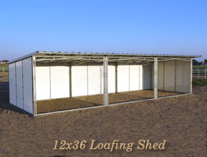 Noble panels loafing sheds horse shelters for 24x16 shed