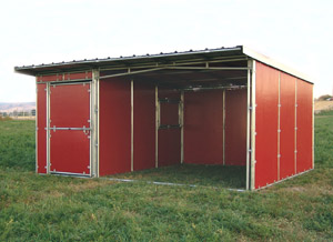 Noble Panels Horse Shelter With 6 Side Feed Room