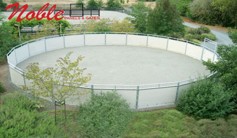 noble panels also builds round pens horse shelters paddocks mesh fencing saddle racks and gates we also make unique continuous fence that contours